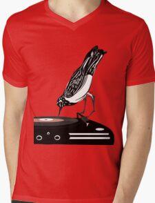 DJ magpie Mens V-Neck T-Shirt