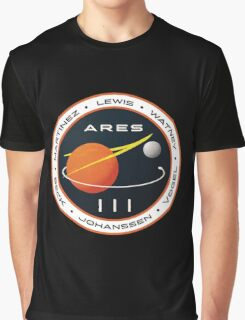 ARES 3 Mission Patch (Clean) - The Martian Graphic T-Shirt