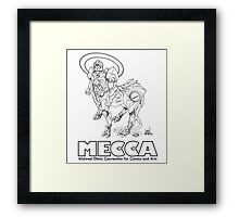 MERKABA MECHA, meccacon Framed Print