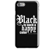 All Black Everything - White Font iPhone Case/Skin