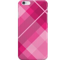 Plaid pattern in hot pink iPhone Case/Skin