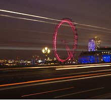 Light Trails at the London Eye by margaret986