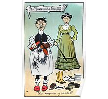 Victorian humour, is marriage a failure Poster