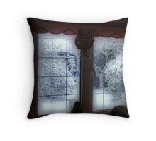 My Room...My Winter View... Throw Pillow