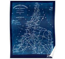 Civil War Maps 0548 Lancaster District South Carolina Inverted Poster