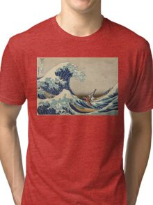 The Great Wave of Hyrule Tri-blend T-Shirt