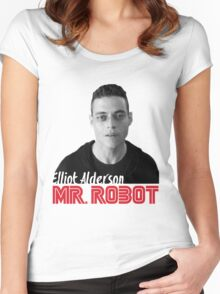 Mr. Robot – Elliot Alderson, Rami Malek Women's Fitted Scoop T-Shirt