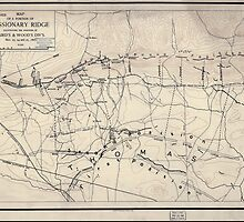 Civil War Maps 0639 Map of a portion of Missionary Ridge illustrating the positions of Baird's Wood's div's Nov 23 24 and 25 1863 by wetdryvac