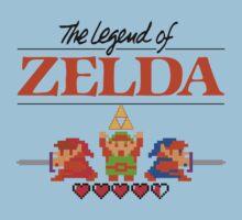 The Legend of Zelda Ocarina of Time 8 bit Kids Tee