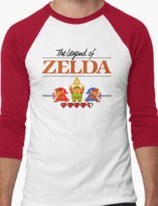 The Legend of Zelda Ocarina of Time 8 bit Men's Baseball ¾ T-Shirt