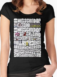 Riptide Lyrics Women's Fitted Scoop T-Shirt