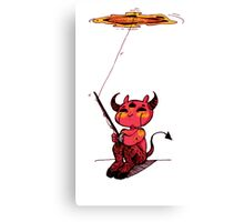 Fishing Devil Chibi Canvas Print