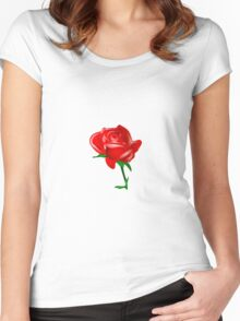 Rose 1 Women's Fitted Scoop T-Shirt