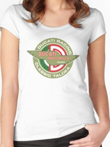 Retro Ducati Racing Women's Fitted Scoop T-Shirt