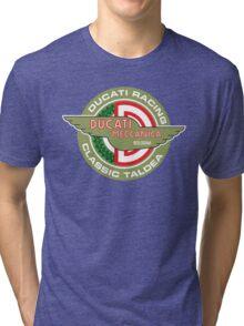 Retro Ducati Racing Tri-blend T-Shirt