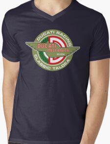 Retro Ducati Racing Mens V-Neck T-Shirt