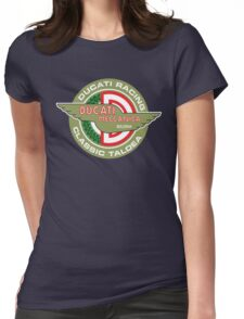 Retro Ducati Racing Womens Fitted T-Shirt