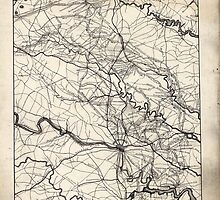 Civil War Maps 1103 Map of central Virginia showing the movements of the Tenth New York Cavalry in the campaigs sic of 1864 by wetdryvac
