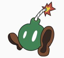 Big Cute Green Bomb Kids Tee