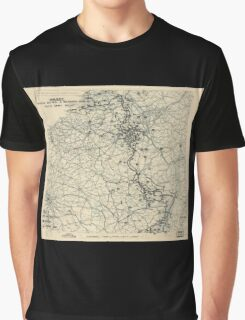 December 3 1944 World War II HQ Twelfth Army Group situation map Graphic T-Shirt
