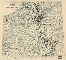 December 3 1944 World War II HQ Twelfth Army Group situation map Photographic Print
