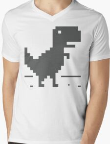 Unable to connect to the internet - Dinosaur Mens V-Neck T-Shirt