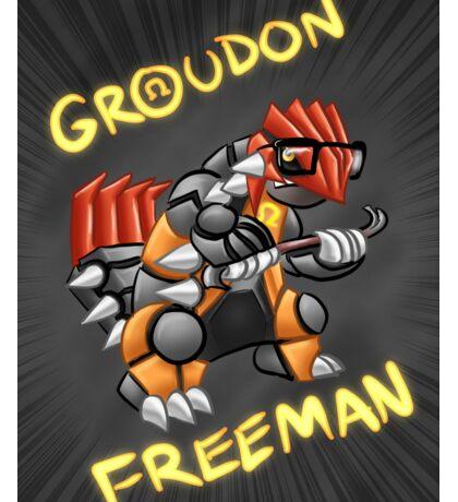 Groudon Freeman Sticker