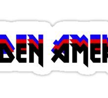 MAIDEN AMERICA - Iron Maiden Logo Parody Sticker