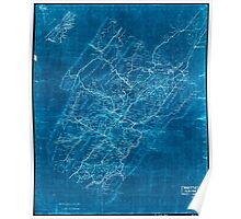 Civil War Maps 1544 Rockbridge Co Va Inverted Poster