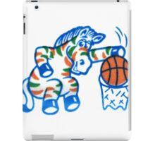 Zebra Dunk  iPad Case/Skin