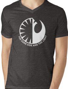 The Dark Side and the Light Mens V-Neck T-Shirt