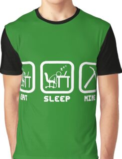 Eat Sleep Mine Graphic T-Shirt