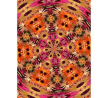 Symphony in pink and orange mandala. Photographic Print