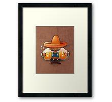 Drinking beer illustration Framed Print