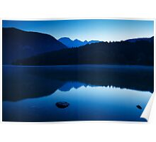 Dawn at Lake Bohinj in Slovenia Poster