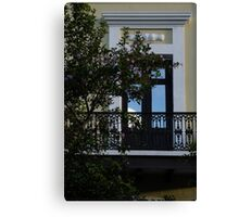 Elegant Tropical Balcony - the Beautiful Colonial Architecture of Old San Juan, Puerto Rico Canvas Print