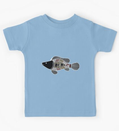 Authentic Aboriginal Art - Fish Kids Tee