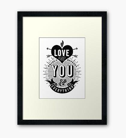 Love Is The Bridge Framed Print
