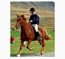 Icelandic horse and rider Unisex T-Shirt