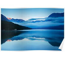 Morning at Lake Bohinj in Slovenia Poster
