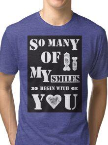 smiles b&w Tri-blend T-Shirt