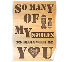 smiles wood Poster