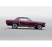 1965 Ford Mustang Coupe 'Pony in Profile' Photographic Print