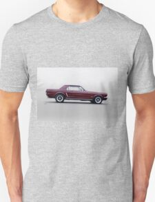 1965 Ford Mustang Coupe 'Pony in Profile' Unisex T-Shirt