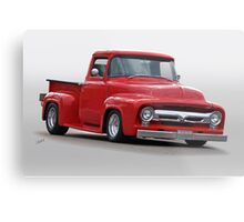 1956 Ford F100 Pickup 'Cherry Baby' Metal Print