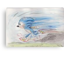 Sonic on the Run Canvas Print