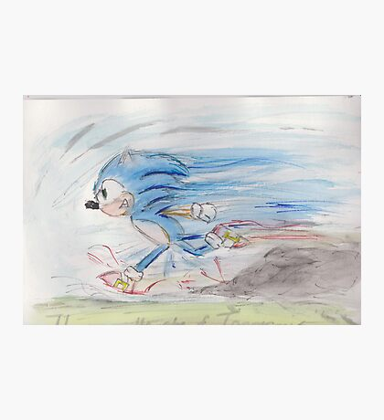 Sonic on the Run Photographic Print