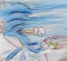 Sonic on the Run Sticker