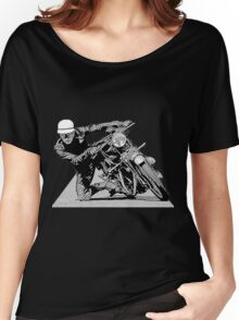 1940s Vintage Motorcycle Racer Graphic Women's Relaxed Fit T-Shirt