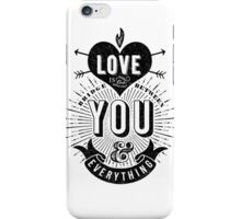 Love Is The Bridge iPhone Case/Skin